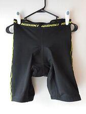 "Nishiki Bike Shorts size Md 92% Polyester 8% Spandex Air Holes Vguc 26""Waist"