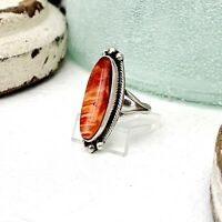 Southwest Mint Size 7 Sterling Silver Ring With Genuine Purple Spiny Oyster