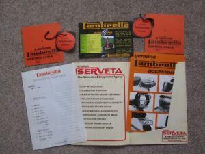 LAMBRETTA MEGA MEMORABILIA BUNDLE - GENUINE PERIOD ITEMS - ALL NOS - 8 ITEMS