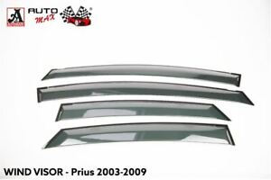 TOYOTA Prius (2003-2008) (1.5) Front And Rear - 4PCS WIND DEFLECTORS ( Mark 2 )