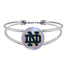 Notre Dame Fighting Irish Team Logo Adjule Bangle Bracelet