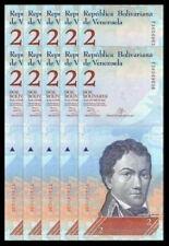 Venezuela 2 Bolivares 10pcs Running Number (Gem UNC) 委内瑞拉 2玻利瓦尔 (弗朗西斯科·德·米兰达元帅)