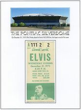 ELVIS PRESLEY - Konzert – Ticket v. 31. Dez. 1975 Pontiac Silverdome (Faksimile)