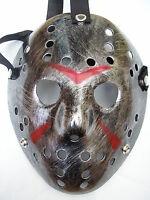 jason voorhees friday 13th silver hockey halloween plastic horror mask