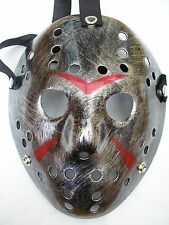 jason voorhees friday 13th silver hockey halloween plastic horror mask