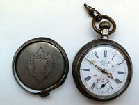 Alte Uhr Taschenuhr Handaufzug 800er Silber ( Gebrüder Eppner /Schweizer Werk ?