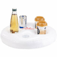 Aufblasbarer Getränkehalter Donut Glitzer 3er Set Flaschenhalter Getränk 22cm