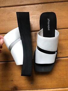 Jeffrey Campbell New Women's Slip On Sandal- 9 US White  Black