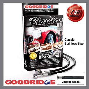 Austin Healey 3000 59-67 Goodridge Stainless Classic Brake Hoses SAH0102-3C-CLA