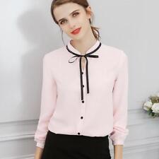 Spring Autumn Tops Office Lady Blouse Fashion Long Sleeve Slim Shirt Female Cute