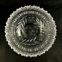 "🟢 Antique L. Straus & Sons ABP Brilliant Period Cut Glass R1529 9"" Deep Bowl"