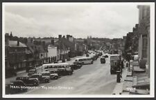 More details for marlborough, wiltshire. bus, coaches & motorcars in the high street. real photo