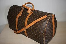 Authentic LOUIS VUITTON Monogram Keepall 60 Carry-On Travel bag