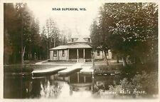 Wisconsin, WI, Near Superior, Cedar Lake, Collidge Summer White House 1928 RPPC