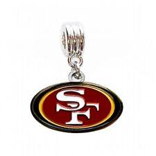 SAN FRANCISCO 49ERS FOOTBALL CHARM SLIDE PENDANT NECKLACE EUROPEAN BRACELET DIY