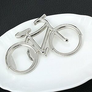 Novelty Metal Silver Bicycle Bike Bottle Opener Beer Gift Present For Cyclist