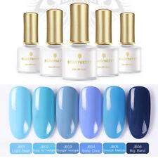 6 pcs/set Blue Color Gel Polish Lot UV LED Lamp  Sky Blue BORN PRETTY