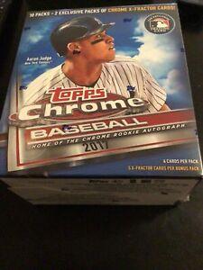 2017 Topps Chrome Baseball Mega Sealed Box Aaron Judge