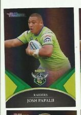 2016 NRL TRADERS BLACK PARALLEL CANBERRA RAIDERS JOSH PAPALII PS008 FREE POST