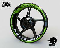 "Wheel Stickers for Kawasaki Ninja 300 Rim Tape Motorcycle Decals Graphics 17"""