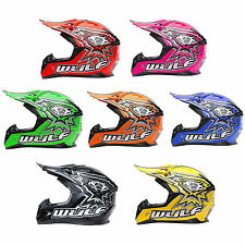 Wulfsport Cub Flite Motocross MX Crash Helmet Children Kid Junior Pitbike Quad