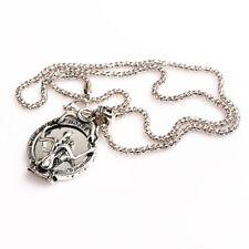 Silber Männer Halskette Glieder Vampir Schädel Anhänger Mode Schmuck Geschenk