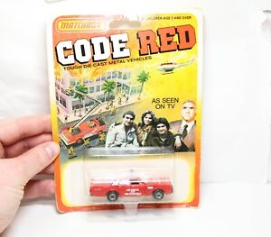 Matchbox Code Red Fire Chief Car 1981 - Unopened Model On Card Rare USA