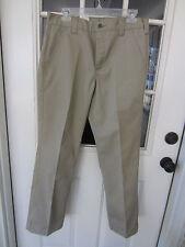 Men's Carhartt khaki twill relaxed fit work pants 31W 33W 30L crisp B290