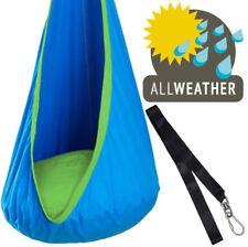 Waterproof Blue Sensory Swing Pod + Tree Strap - Autism, ADHD, Aspergers