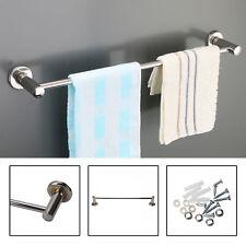 57CM Single Towel Rail Rack Holder Wall Mounted Bathroom Shelf Chrome UK