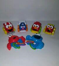 SESAME STREET Toy Lot Cars Rattles Toddler Baby Toys
