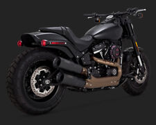 2018 Harley Fxfbs Fat Bob 114 Vance and Hines Black Hi Output Exhaust 46547