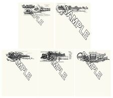 Hammond Fox Smith Bar Lock Blickensderfer Typewriter 5 Reproduction Letterheads.