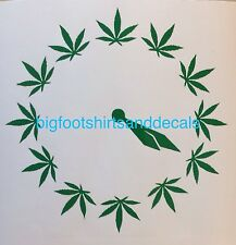 4:20 Clock Medical Marijuana Pot Bud 420 Get High Car Truck Wall Decal Sticker