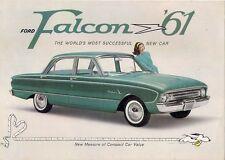 FORD FALCON 1961 Stati Uniti Mercato PIEGA SALES BROCHURE TUDOR fordor Berlina Wagon