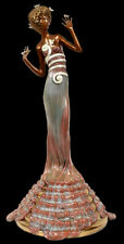 ERTE Signed BRONZE Sculpture FANTASIA Original Romain de Tirtoff Art Costume