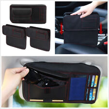 Car Seat Crevice Storage Box For Phone/Card/Cigarette+Car Sun Visor Receive Bag