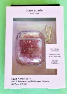 KATE SPADE AIRPODS or AIRPODS PRO CASE:NWT LIQUID GLITTER (PINK or PURPLE/BLUE)