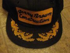 "Nice Vtg ""Jerry Brown construction"" Patch  K Brand  cap"
