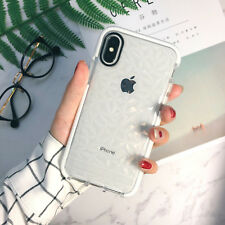 Hybrid Shockproof Clear Diamond Soft Silicone Case Cover For iPhone X 6 7 8 Plus