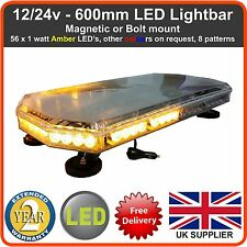 LED Recovery Light bar 60CM 12/24v Flashing Beacon Truck Warning Light Strobes