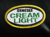 """GENESEE CREAM LIGHT BEER EMBROIDERED SEW ON  PATCH ALE LAGER  3 1/2"""" x 2"""""""