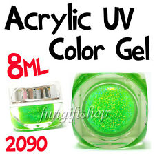 Nail Art Light Green 8ml 0.25oz UV Builder Dust Glitter Gel Acrylic Polish