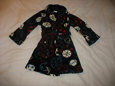 CHEROKEE BATH ROBE Sz S Small Black Sports BOYS 4-6