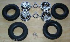 Tamiya 1/14 Scania Volvo Aeromax Hauler Rear Wheels Tyres Set