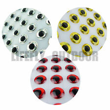 4mm, 3 Colors Combo, 900 Soft Molded 3D Holographic Fish Eyes Fly Jig Lure