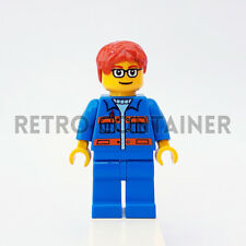 LEGO Minifigures - 1x cty140 - Garage Mechanic - Town Omino Minifig Set 7642