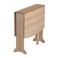 Mood Furniture Heatproof D-end Gateleg Drop Leaf Folding Table in Natural Oak –