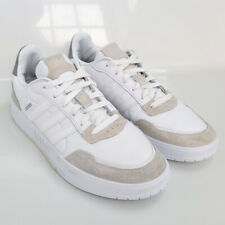 New listing Adidas Courtmaster Cloud White Grey Leather Mens Tennis Shoes FV8106 US Size 11