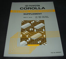 Manual Electrical Wiring Diagram Toyota Corolla WZE 110  E 110 / E 10 ab 10/1999